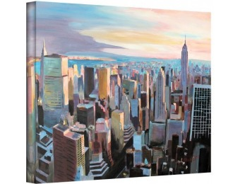 97% off New York City Skyline in Sunlight Gallery Wrapped Canvas