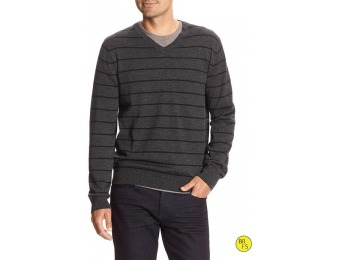 79% off Banana Republic Factory Stripe Merino Vee Pullover