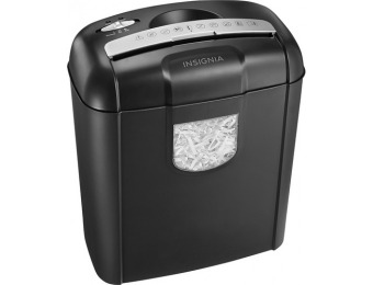 43% off Insignia 6-sheet Crosscut Shredder