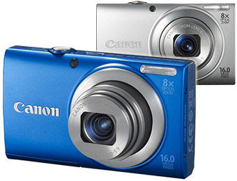 50% off Canon PowerShot A4000 IS 16MP Digital Camera (blue or silver)