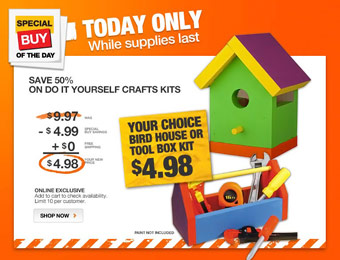50% off Do it Yourself Craft Kits