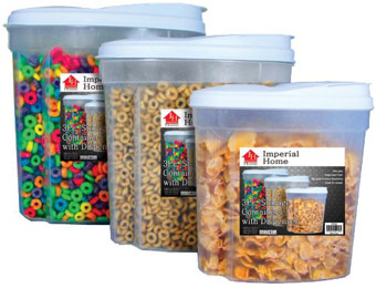 48% off Imperial Home Plastic 3-Piece Cereal Dispenser Set
