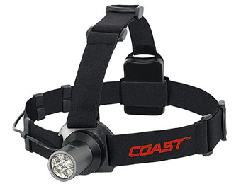 72% off Coast TT7041CP HL5 6 Chip 175 Lumen LED Headlamp