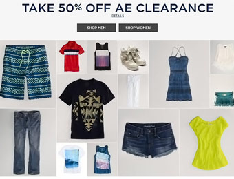 50% Off American Eagle Clearance Men's & Women's Apparel