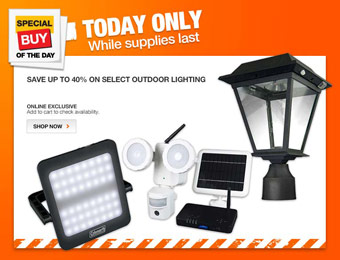 Save Up to 40% off Coleman & XEPA Outdoor Lighting