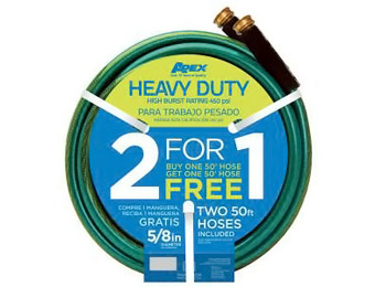 Apex 5/8 in. x 50 ft. Heavy Duty Garden Hose Twin Pack Bogo