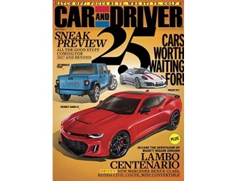 92% off Car and Driver Magazine - 6 month auto-renewal