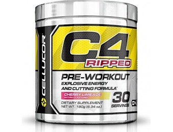 63% off Cellucor C4 Ripped Preworkout Fat Burner Powder