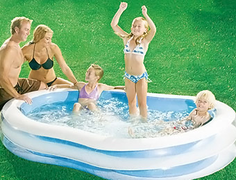 "50% off 8'7"" Transparent Inflatable Family Swimming Pool"