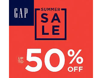 Up to 50% off Summer Sale at Gap.com