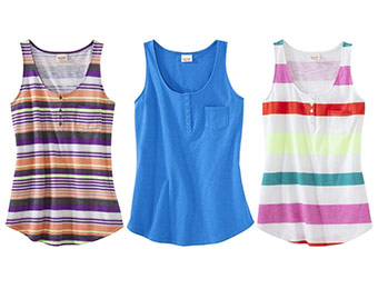 46% off Mossimo Supply Co. Juniors Scoop Neck Tank (8 colors)