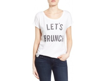 65% off Women's Signorelli 'Let's Brunch' Graphic Scoop Neck Tee