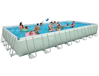 "54% off Intex 32' by 16' by 52"" Rectangular Ultra Frame Pool"