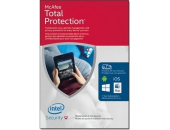 80% off McAfee Total Protection 2016 Unlimited Devices Download