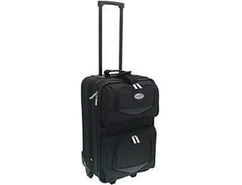 "50% off Overland 20"" Expandable Upright Vertical Rolling Suitcase"