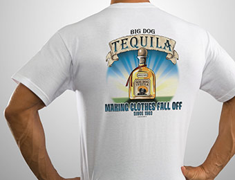 70% off Big Dog Tequila T-Shirt