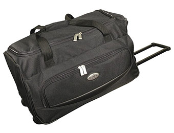 "50% off 22"" Overland Carry On Rolling Duffle Bag"