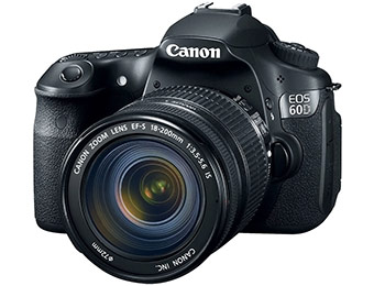 25% off Canon EOS 60D Digital SLR Camera w/ 18-135mm IS Lens