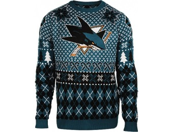 50% off Klew Men's San Jose Sharks Holiday Ugly Sweater