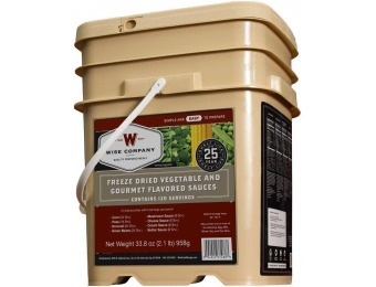 $45 off Wise Company 120 Serving Freeze Dried Vegetables Bucket
