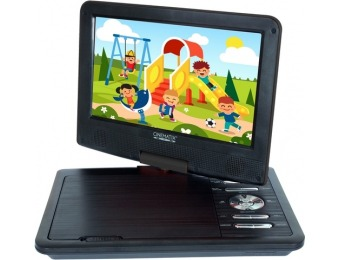 "$30 off Cinematix 9"" Portable Dvd Player - Black"