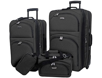 50% off Overland Travelware 4-piece Family Luggage Set
