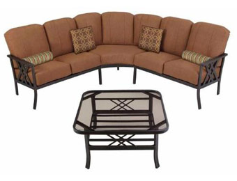 $400 off Hampton Bay Cedarvale 4-Piece Sectional Patio Set