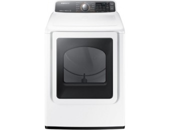 $400 off Samsung Electric Dryer DV48J7770EW with Steam Cycles