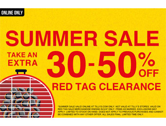 Extra 30% - 50% off Red Tag Clearance Summer Sale