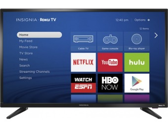 "$70 off Insignia 32"" LED 720p Smart Roku TV"