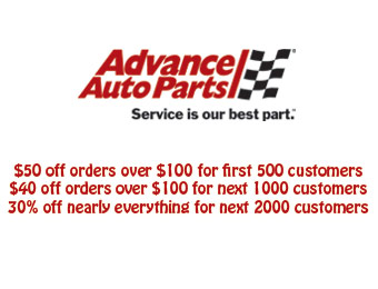 Save $50 off $100 at Advance Auto Parts w/code: DOW31