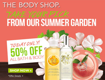 50% off Bath & Body Flash Sale, 50% off Bath & Body Products