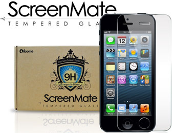71% off iPhone 5 Tempered Glass ScreenMate Screen Protector