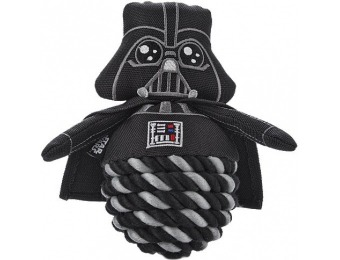 60% off STAR WARS Darth Vader Rope Ball Dog Toy, 6""