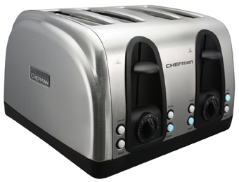 46% off Chefman 4-Slice Stainless Steel Toaster w/ LED Buttons