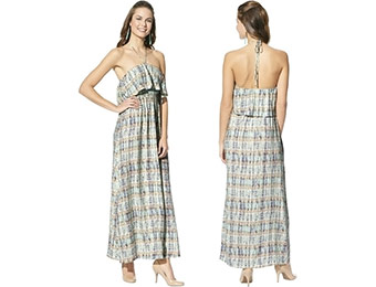 43% off Mossimo Women's Ruffled Halter Maxi Dress (Assorted Prints)