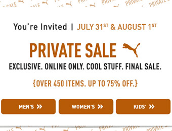 Puma Private Sale - Up to 75% off on over 450 items