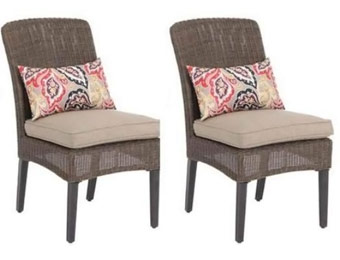 $163 off Hampton Bay Walnut Creek Patio Chairs, 2-Pack