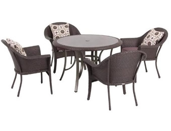 $450 off Hampton Bay Vista 5PC Patio Furniture Set w/Cushions