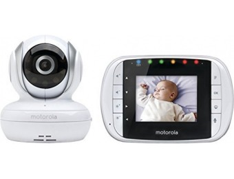 69% off Motorola MBP33S Wireless Video Baby Monitor w/ Color LCD