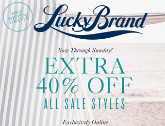 Extra 40% off All Sale Styles at Lucky Brand