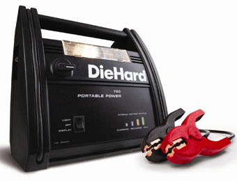 $31 off DieHard Portable Power 750 with 12 Volt Outlet & Light