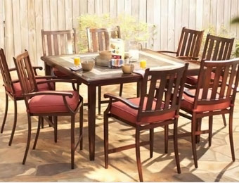 $1,124 off Hampton Bay Broadwell 9-PC High Patio Dining Set