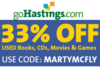 Extra 33% off Books, CDs, Movies & Games w/code: MARTYMCFLY