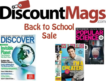 DiscountMags Back To School Magazine Sale from $4 per year