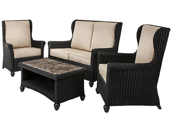 50% off Graham 4-Piece Wicker Patio Conversation Furniture Set