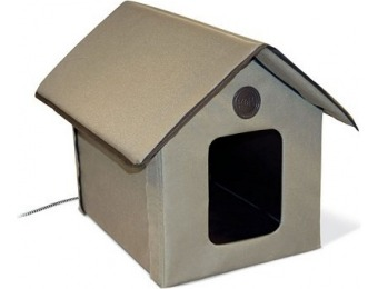 72% off K&H Outdoor Heated Kitty House in Olive