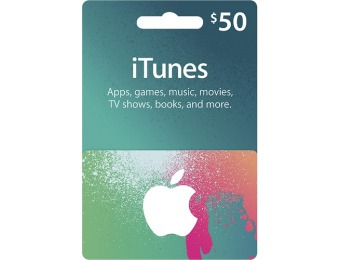 10% off Apple $50 Itunes Gift Card