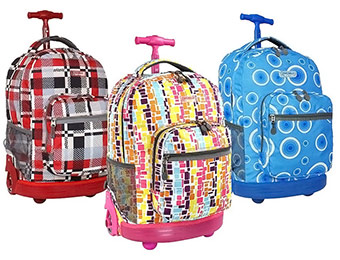 Extra $20 off J-World Sunrise Rolling Backpacks (4 colors)