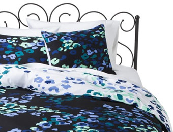 50% off Xhilaration Leopard Reversible Duvet Cover Set